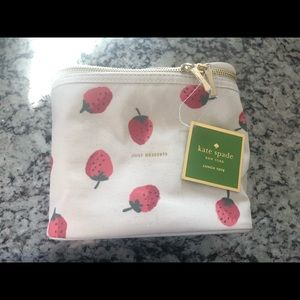 Kate Spade cosmetic bag/lunch tote